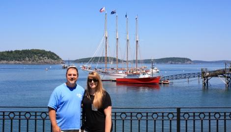 John and Danielle in Bar Harbor