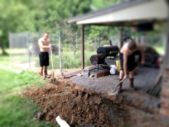 Digging work